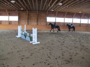 And he also has an indoor arena - He's a very serious competitor, I am told.