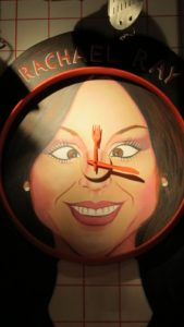 And Rachael Ray as a cross-eyed wall clock