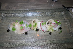 My hamachi crudo was excellent and beautifully presented.