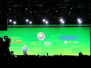 He opened up by speaking about the new and exciting feautures of Xbox and its accessory, Kinect.