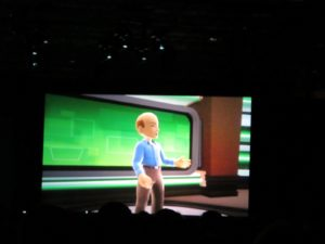 One of the humorous parts of his presentation was himself, speaking as an 'Avatar' on the big screen.