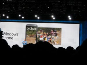 He also spoke about the Windows 7 phones.