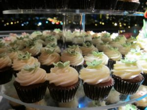 Lori Karmel of We Take the Cake, Ft. Lauderdale, FL had assorted mini cupcakes
