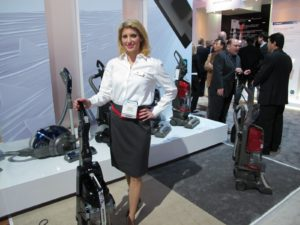 Jessica Baker from LG Electronics demoed some great vacuums.