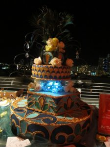 This glowing cake was made by Patti Schmidt of The Dessert Lady, Orlando, FL.