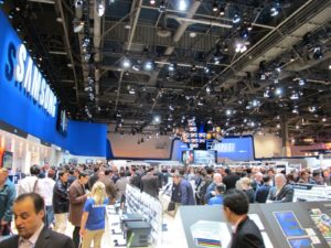 The Samsung section was another huge display in the hall.