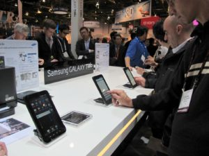 Everyone was very impressed with the Samsung Galaxy Tablet.