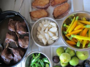 He also prepared the turnips and baby carrots, which accompanied the roasted duck breast and the braised leg.