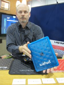 Another iPad accessory - the icePad - It's supposed to keep you iPad running coolly.