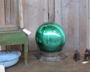 I really loved this green mercury ball, which I bought for Christmas.  (not the stand)
