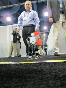 One must always be on the lookout for robots while walking the floor at CES!
