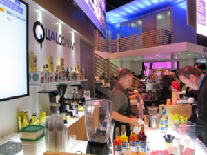 Or refresh with non-alchohalic beverages at the Qualcomm bar?