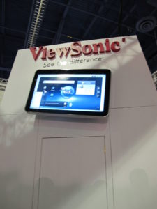 Viewsonic also had a very promising tablet at the show.
