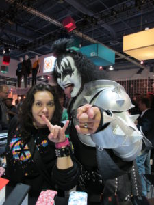 Gene from Kiss was somehow promoting SPECK cases for your phone.