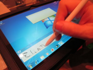 They also had a great looking Windows 7 tablet.