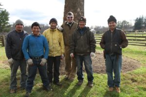And, fortunately, a very happy and willing and strong grounds crew to take over!