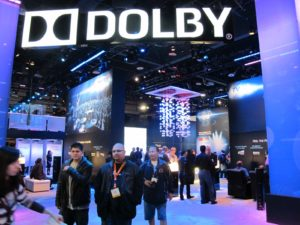 Dolby Laboratories was showcasing some of their latest audio technology.