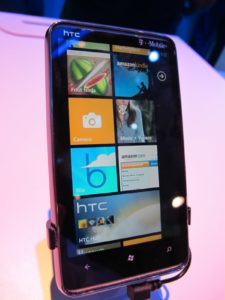 Windows 7 phones have what is called 'live tiles.'