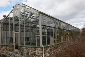 This is the cold house, where vegetables are planted right in the fertile ground.