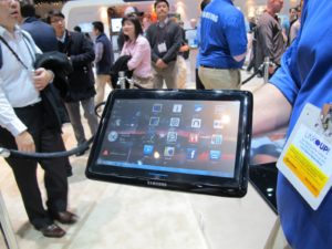 The newest Samsung tablet is not on the market yet.