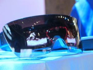Lady Gaga, the new creative director of Polaroid, was present at CES to launch her newly designed GL20 Camera Glasses.