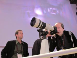 There was a great setup, which allowed visitors to actually try out some of their spectacular lenses.