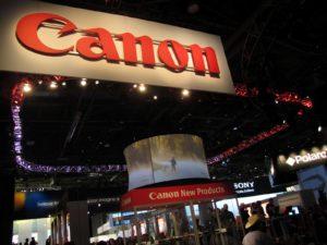 As usual, Canon had an impressive area.