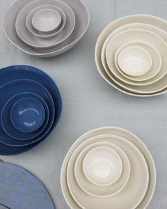 Marcie McGoldrick's porcelain nesting bowls  http://www.marciemcgoldrick.com/