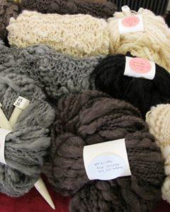 Christina Deyo's hand spun yarn and knit goods