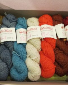 Our friends from Purl Soho sold their beautiful yarn.  http://www.purlsoho.com/purl