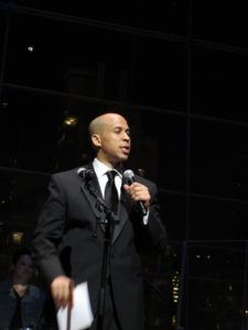 Honoree Cory Booker - The dynamic mayor of Newark, New Jersey