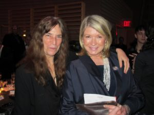 Here I am with honoree Patti Smith - The Godmother of Punk and author.