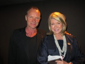 And here I am with the one and only Sting, also an honoree who performed, as well.
