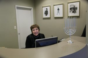 Joanne Logan, our studio receptionist, greets staff and special guests so warmly.