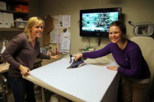 Annie Fisher, my wardrobe stylist and her intern, Katrina