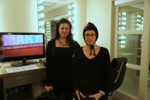 Our guests' hair and makeup artists Nicole Detweiler and Deb Jones