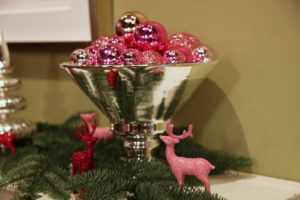 And these pink and red glittered reindeer