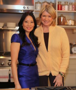 Here I am with our special guest, Lucy Liu.  We made persimmon pudding together and she talked about her new romantic comedy, 'Marry Me.'