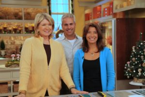 Here I am on set with our guest GillIan Stevens of 'Dewdrop Designs' and her husband.