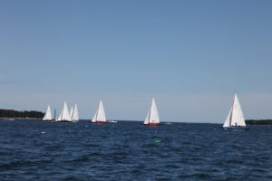 This was the last day of racing in the Northeast Harbor IOD World Championship regatta.