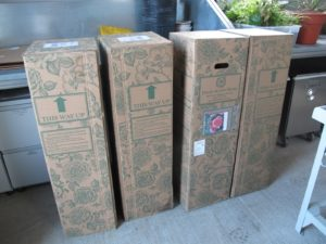 When you order rose bushes from David Austin, each plant comes packaged in a very sturdy box.