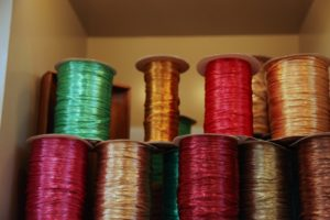 More spools of ribbons
