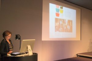 Our Chief Creative and Editorial Director, Gael Towey, introduced our digital magazine on the big screen.