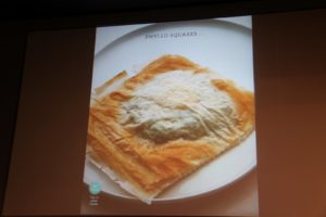 What is the filling in this flaky phyllo dough?