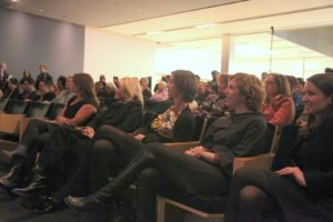 Some of my people sat in the front row - Susan Magrino, Missy Foristall, Sarah Gormley, and Katherine Nash.