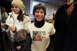 Can you tell that this audience member is a fan of my dogs? What a great shirt!