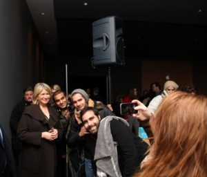 There were lot's of fans wanting to take pictures of me with their iPhones as I headed out.