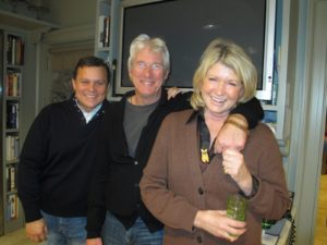 Here I am with Russell Hernandez and Richard Gere - they are partners in the lovely Bedford Post Inn.