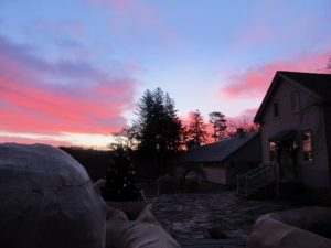 On Christmas morning, the sunrise was simply magical!  However, they do say that 'pink sky in the morning, sailors take warning' and there was a blizzard the next day.