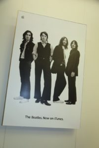 The sign says it all.  It's astounding how many different formats the Beatles' music has been heard on.